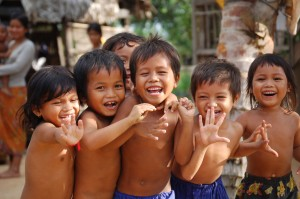 Happy children at Srange Village