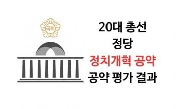 [20대 총선 정당 공약평가] 7. 정치개혁 공약