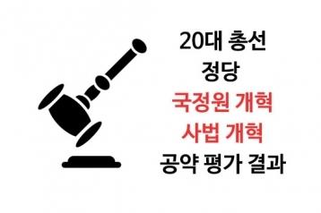 [20대 총선 정당 공약평가] 8. 국정원 및 사법 개혁 공약