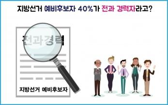 [청년 선거단 칼럼5] 지방선거 예비후보자 40%가 전과 경력자라고?